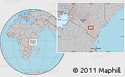 Gray Location Map of Kalulini