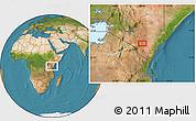 Satellite Location Map of Kalulini