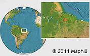 "Satellite Location Map of the area around 2°27'3""S,47°31'29""W"
