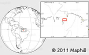 """Blank Location Map of the area around 2°27'3""""S,49°13'30""""W"""