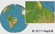 "Satellite Location Map of the area around 2°27'3""S,49°13'30""W"