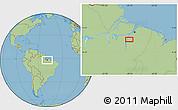 "Savanna Style Location Map of the area around 2°27'3""S,49°13'30""W"