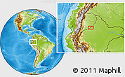 Physical Location Map of Tambo Borja
