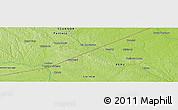 Physical Panoramic Map of Tambo Borja