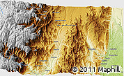 """Physical 3D Map of the area around 2°27'3""""S,78°7'30""""W"""