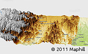 """Physical Panoramic Map of the area around 2°27'3""""S,78°7'30""""W"""