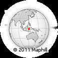 Outline Map of Bahodopi, rectangular outline