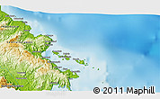 """Physical 3D Map of the area around 2°58'32""""S,122°28'29""""E"""