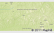 """Physical 3D Map of the area around 2°58'32""""S,21°19'30""""E"""