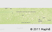 """Physical Panoramic Map of the area around 2°58'32""""S,21°19'30""""E"""