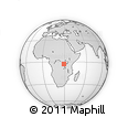Outline Map of Mpanda, rectangular outline
