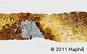 Physical Panoramic Map of Ndora