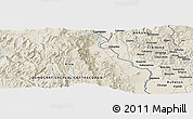 Shaded Relief Panoramic Map of Bisiza