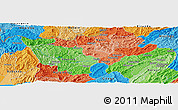 """Political Panoramic Map of the area around 2°58'32""""S,29°49'30""""E"""