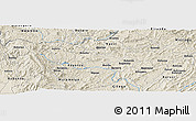 """Shaded Relief Panoramic Map of the area around 2°58'32""""S,29°49'30""""E"""