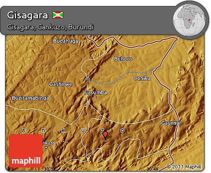 Physical Map of Gisagara