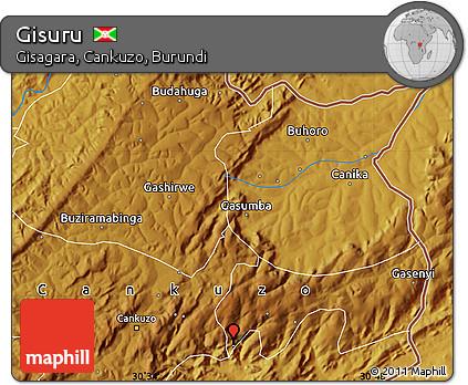 Physical Map of Gisuru