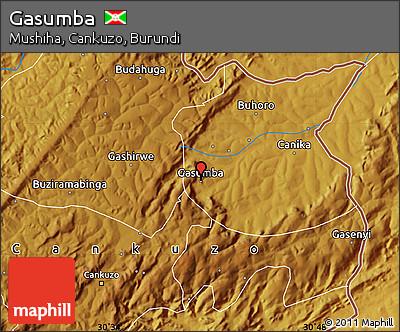 Physical Map of Gasumba