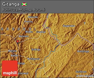 Physical Map of Gitanga