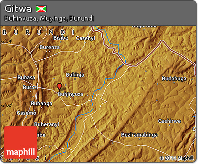 Physical Map of Gitwa
