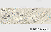 Shaded Relief Panoramic Map of Gasumba