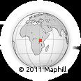 Outline Map of Geita, rectangular outline