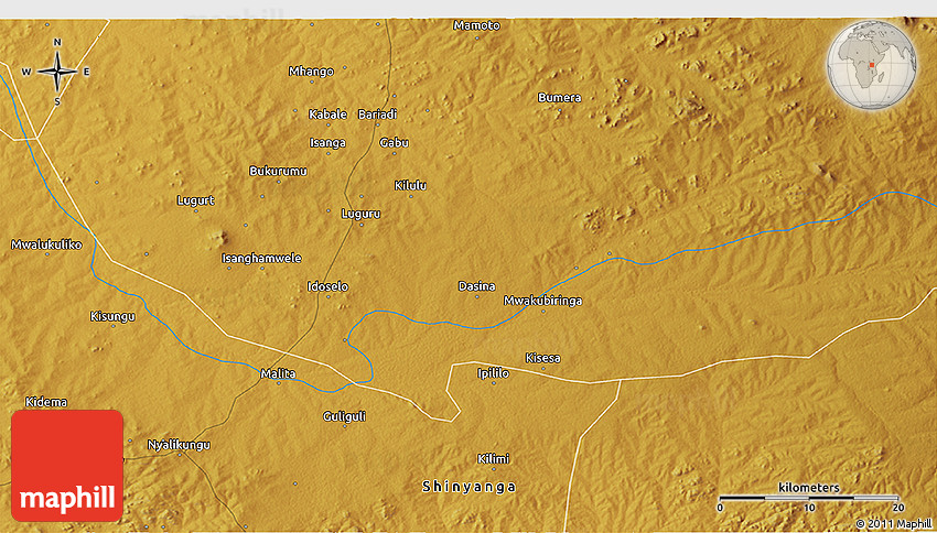 Physical 3D Map of Gabu
