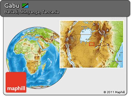 Free Physical Location Map of Gabu