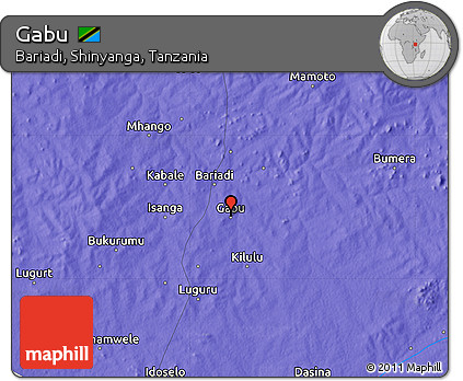 Free Political Map of Gabu