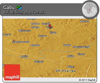 Free Physical Panoramic Map of Gabu