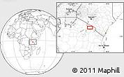 Blank Location Map of Tinga Tinga