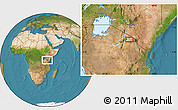 Satellite Location Map of Sinya