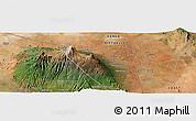 Satellite Panoramic Map of Mata