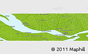 """Physical Panoramic Map of the area around 2°58'32""""S,60°16'29""""W"""