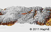 """Physical Panoramic Map of the area around 2°58'32""""S,78°58'29""""W"""