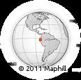 Outline Map of Machala, rectangular outline