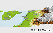 """Physical Panoramic Map of the area around 2°58'32""""S,79°49'29""""W"""