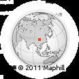 Outline Map of Shou'an, rectangular outline