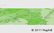 Political Panoramic Map of Shou'an