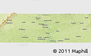 "Physical Panoramic Map of the area around 30° 13' 46"" N, 104° 37' 30"" E"