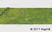 "Satellite Panoramic Map of the area around 30° 13' 46"" N, 104° 37' 30"" E"