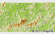 """Physical 3D Map of the area around 30°13'46""""N,118°13'29""""E"""