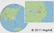 "Savanna Style Location Map of the area around 30°13'46""N,118°13'29""E"