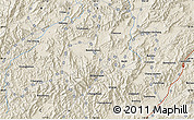 """Shaded Relief Map of the area around 30°13'46""""N,118°13'29""""E"""