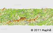 """Physical Panoramic Map of the area around 30°13'46""""N,118°13'29""""E"""