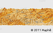 """Political Panoramic Map of the area around 30°13'46""""N,118°13'29""""E"""
