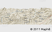 """Shaded Relief Panoramic Map of the area around 30°13'46""""N,118°13'29""""E"""