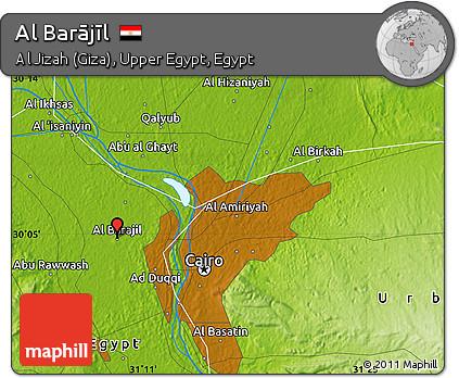 Free Physical Map of Al Barjl