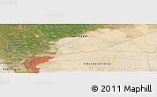 Satellite Panoramic Map of Cairo