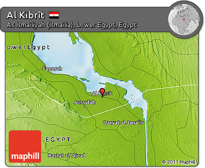 Free Physical 3D Map of Al Kibrt